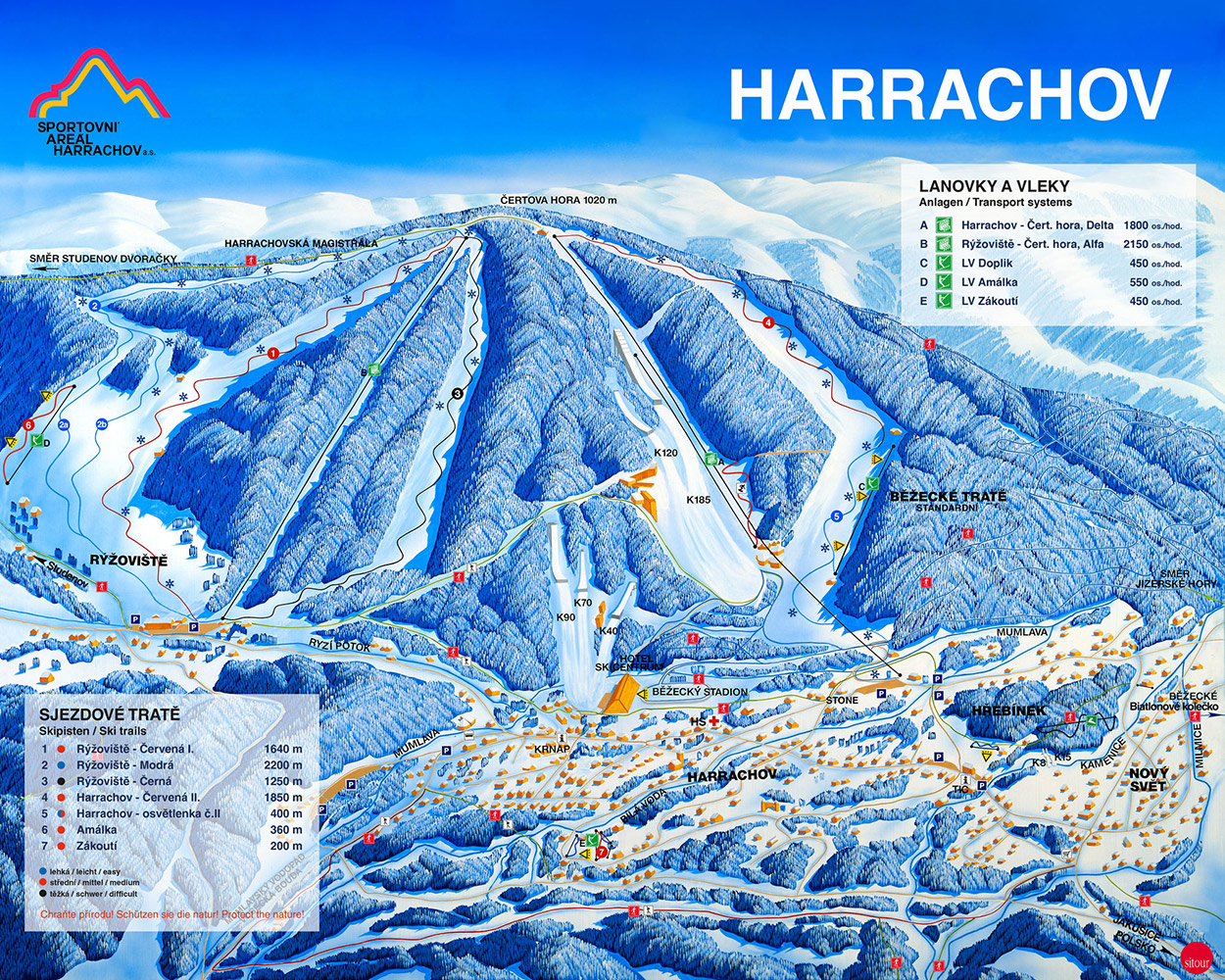 harrachov Mapa zima 2019 legenda 2